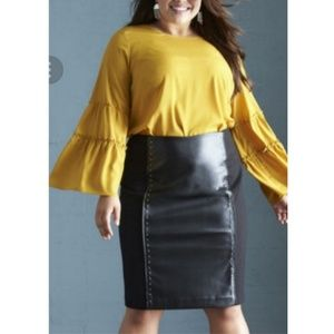 da158302bf Women Faux Leather Skirt Plus Size on Poshmark